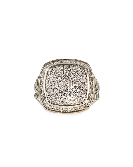 David Yurman 14mm Albion Pave Diamond Ring