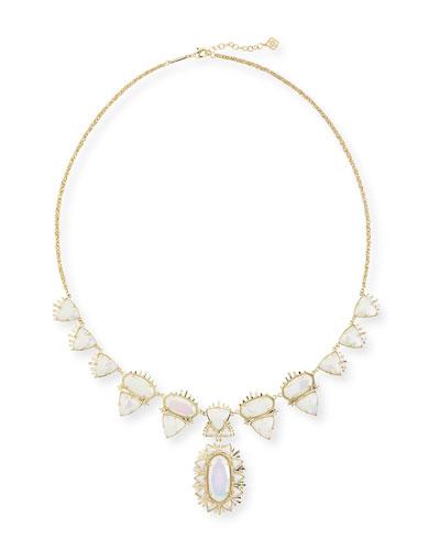 Havana Long Necklace, Iridescent