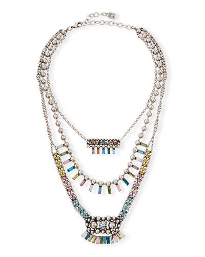Velia Three-Strand Necklace