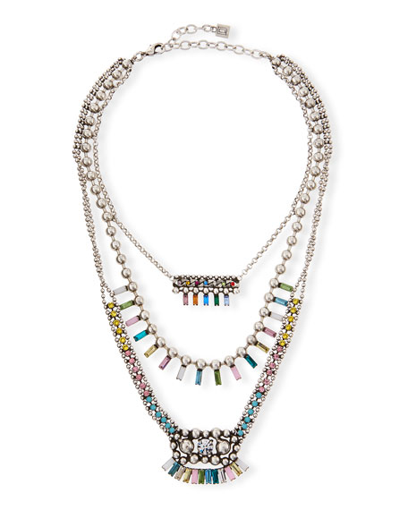 Dannijo Velia Three-Strand Necklace