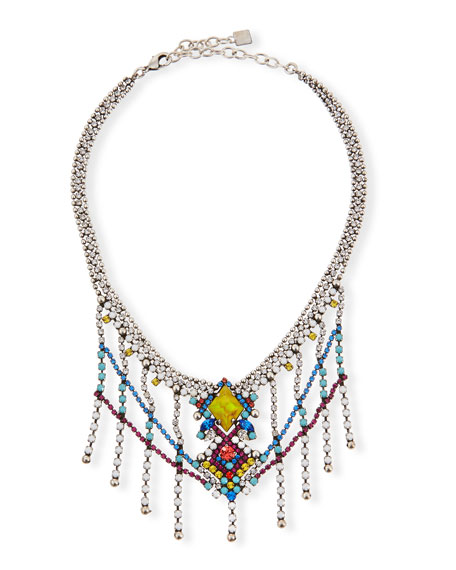 Dannijo Cubana Multicolor Crystal Necklace