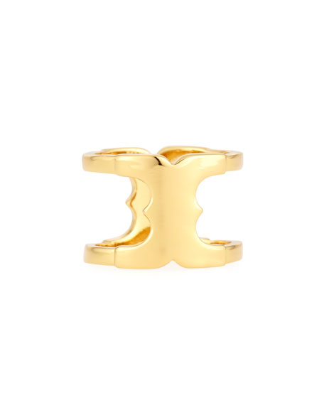 Tory Burch Gemini Golden Link Ring