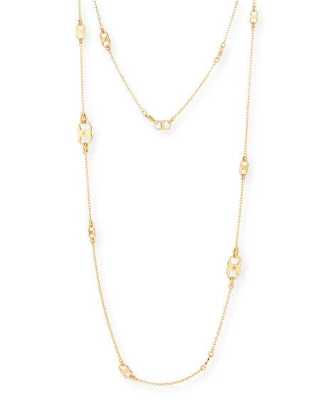 Gemini Long Golden Link Necklace