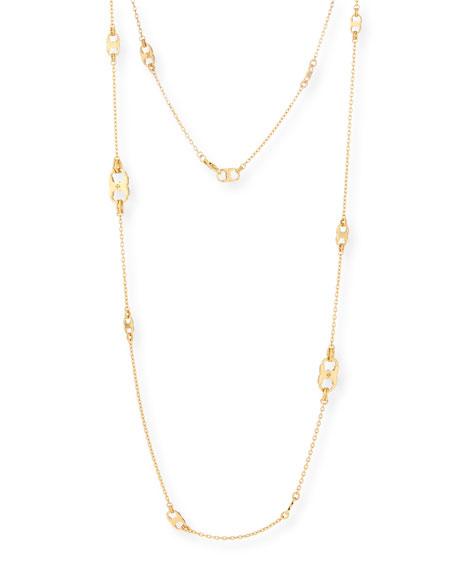 Gemini Long Golden Link Necklace