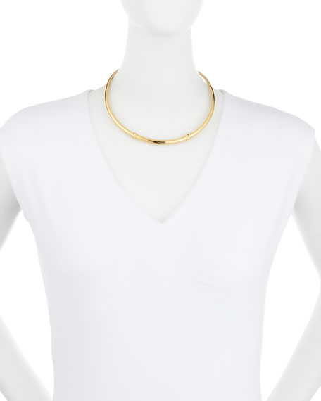 Golden Wrapped Horn Collar Necklace