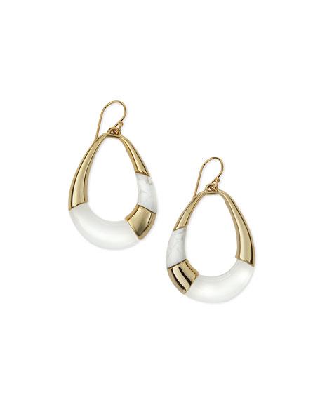 Alexis Bittar Open Colorblock Teardrop Earrings, Clear
