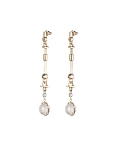 Dahlia Mother-of-Pearl Orb Earrings