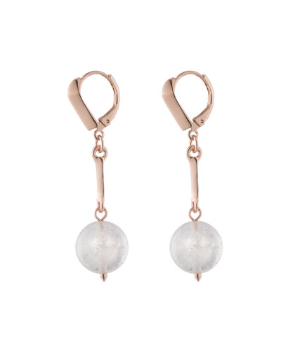 Dahlia Orb Day Drop Earrings, Rose Golden