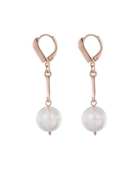 Dahlia Orb Day Drop Earrings, Rose Golden