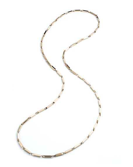 Eddie Borgo Large 14K Gold Peaked Link Necklace,