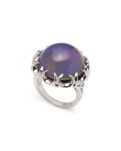 Dahlia Mood Cabochon Ring