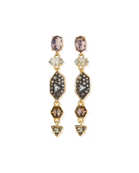 Alexis Bittar Pavé Dangle Shield Earrings, Multi