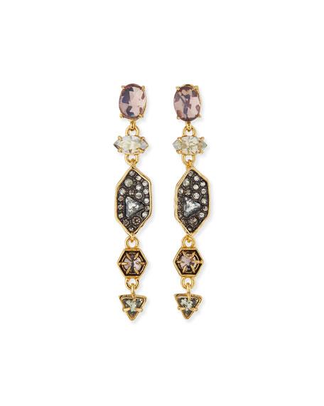 Alexis Bittar Pavé Dangle Shield Earrings, Multi