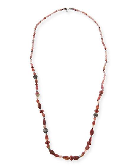 Alexis Bittar Long Beaded Single-Strand Necklace, Multi