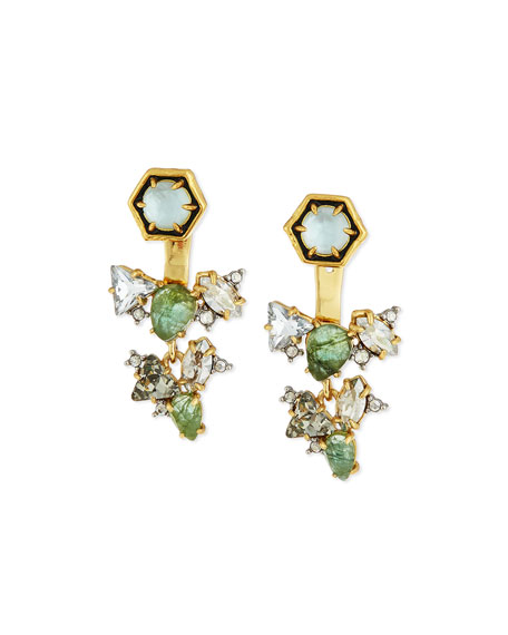 Alexis Bittar Green Mosaic Jacket Earrings
