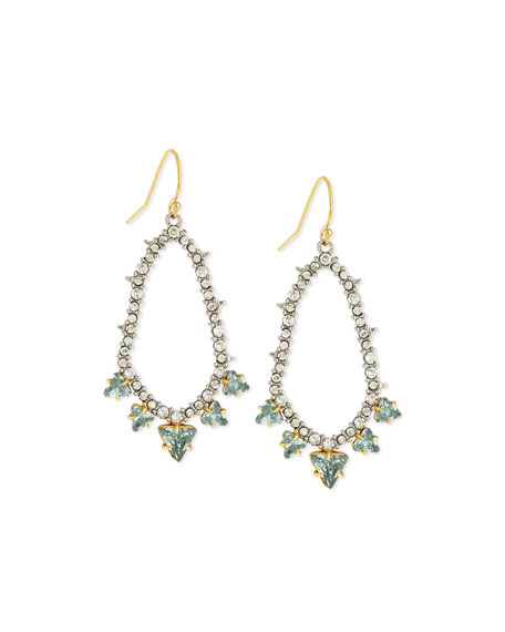 Alexis Bittar Spike-Trimmed Pavé Hoop Earrings