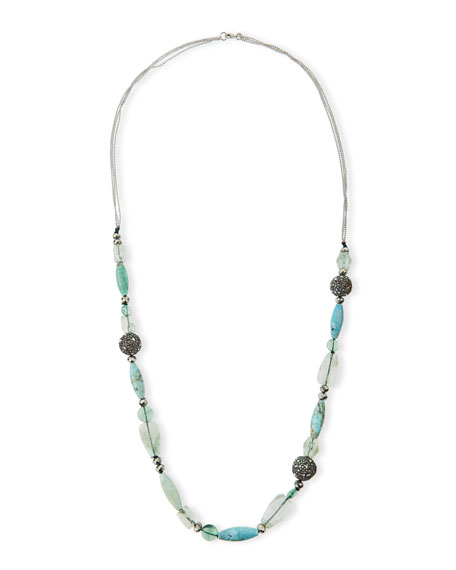 Alexis Bittar Long Beaded Single-Strand Necklace, Green