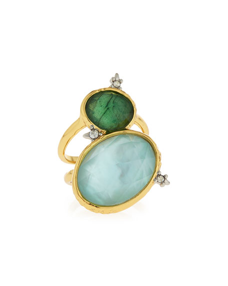 Alexis Bittar Multi-Crystal Statement Ring, Green