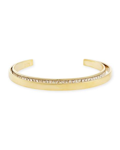 Alexis Bittar Orbit Golden Crystal-Encrusted Cuff Bracelet