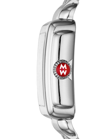 MICHELE 18mm Deco Diamond Swan Watch Head in Stainless Steel