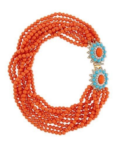 Kenneth Jay Lane Beaded Multi-Row Necklace