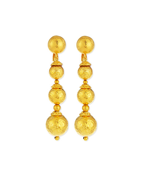 24K Gold-Plated Ball Drop Earrings