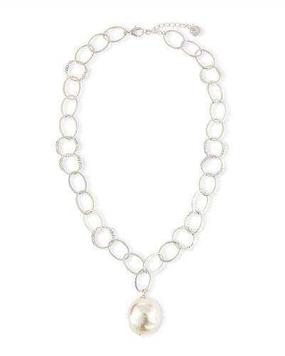 Baroque Pearl Pendant Necklace, 16