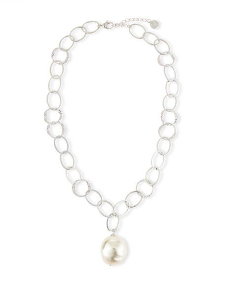 Majorica Baroque Pearl Pendant Necklace, 16