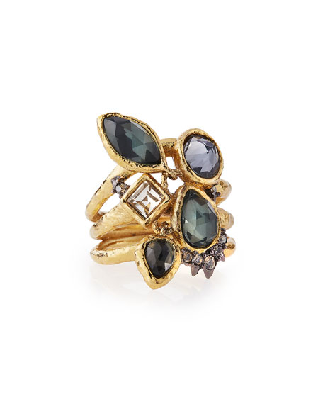 Alexis Bittar Shake Faceted Pyrite Ring