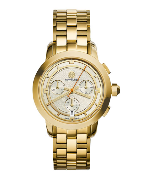 Tory Burch Watches 37mm Tory Stainless Chronograph Golden