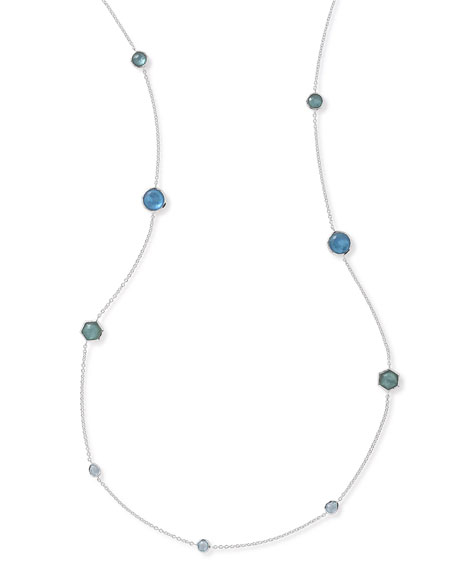 Ippolita Rock Candy Station Necklace in Blue Star,
