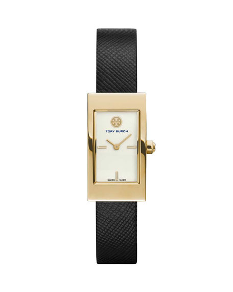 Tory Burch Watches 32mm Buddy Classic Leather Watch