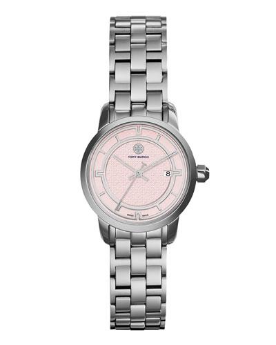 28mm Tory Bracelet Strap Watch, Pink/Steel