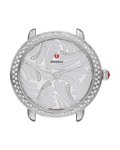 16mm Serein Diamond Swan Watch Head in Stainless Steel
