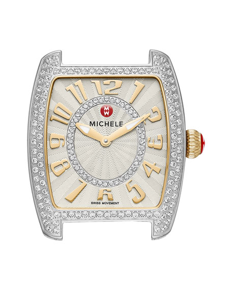 MICHELE Urban Mini Diamond Two-Tone Watch Head