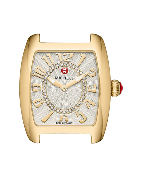 MICHELE Urban Mini Diamond Watch Head, Gold