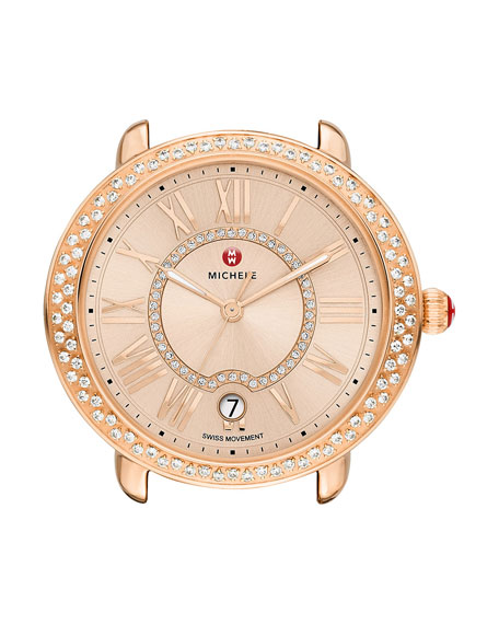 MICHELE 16mm Serein Diamond Watch Head, Rose Gold