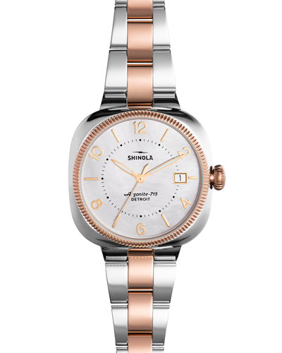36mm Gomelsky Watch with Bracelet Strap, Rose Gold