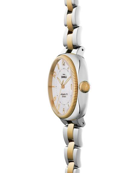 36mm Gomelsky Watch with Bracelet Strap, Gold