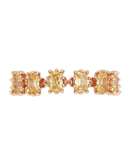 Eddie Borgo Prong-Set Yellow Jonquil Crystal Bracelet