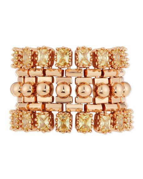 Eddie Borgo Yellow Crystal Dome Cuff Bracelet