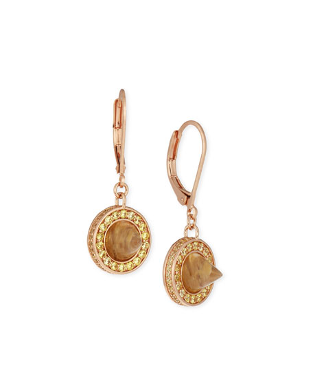 Eddie Borgo Crystal Cone Day Drop Earrings, Rose Gold