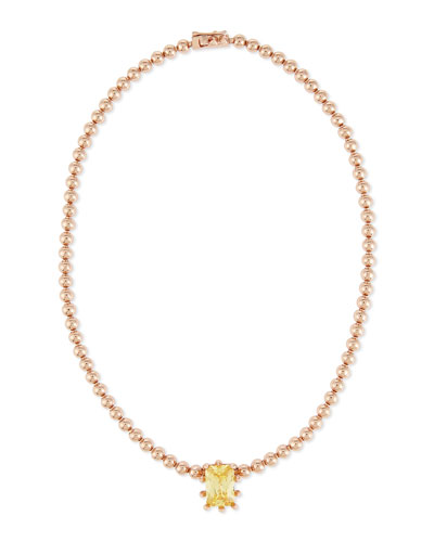Rose Golden Estate Dome Necklace