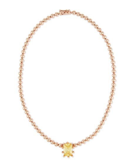 Eddie Borgo Rose Golden Estate Dome Necklace