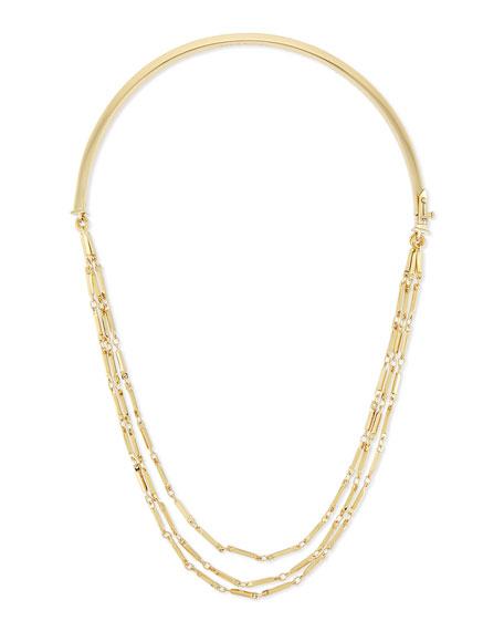 Eddie Borgo Peaked Chain Collar Necklace