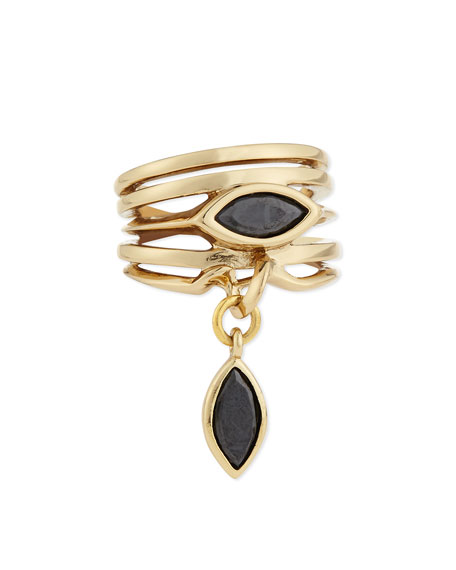 Eddie Borgo Navette Stacked Charm Ring