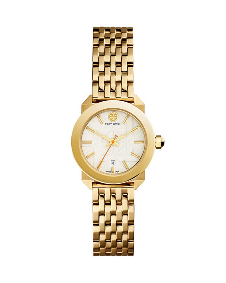 Tory Burch Watches Whitney Bracelet Strap Watch, Golden