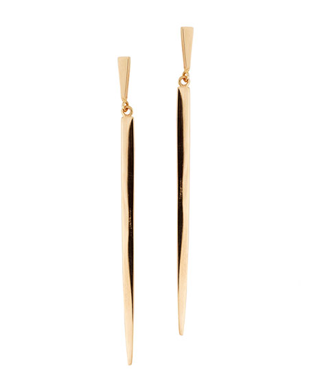 Short 14K Gold Sheer Earrings