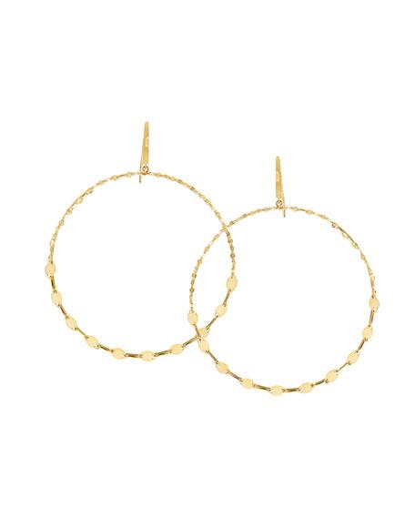 Large Dangling Remix Hoop Earrings