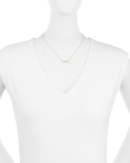 Pave Diamond Bar Roll Necklace